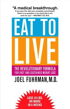 Eat to Live: The Revolutionary Formula for Fast and Sustained Weight Loss. Not only for weight loss but for a better and healthier living! The amount of bad stuff we eat is shocking! this will change ur life!
