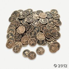 Pirate Coins (144 pieces)--oriental trading
