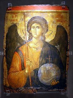 Archangel Michael, the Byzantine Empire, 14 century. The Byzantine museum of Athens. Byzantine Art, Byzantine Icons, Religious Icons, Religious Art, Greek Icons, Saint Michel, Angel Pictures, National Gallery Of Art, Art Icon