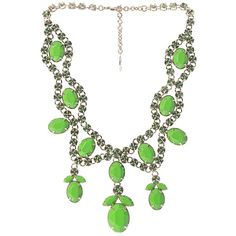 VALENTINO Statement crystal necklace (3,130 CAD) ❤ liked on Polyvore featuring jewelry, necklaces, valentino, green, crystal jewelry, swarovski crystal jewelry, green statement necklace, green crystal necklace and crystal statement necklace
