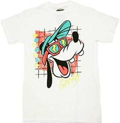 Disney Mens Sunny Goofy TShirt White Small *** Continue to the product at the image link.