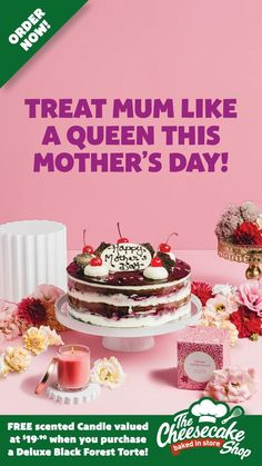 Fun Baking Recipes, Cake Recipes, Dessert Recipes, Chocolate Cake Designs, Delicious Desserts, Yummy Food, Maraschino Cherries, Mother's Day Diy, Black Forest