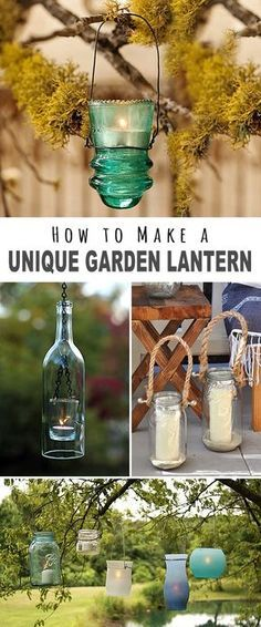 How to Make a Unique Garden Lantern! • We found some great projects, ideas and tutorials for you. Explore this post to find your next fantastic DIY outdoor lighting project!