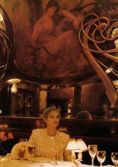 Bianca Jagger in Scherrer.
