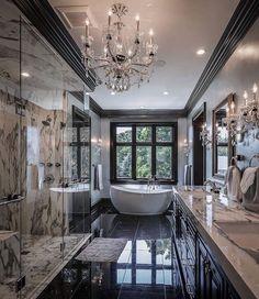 20 fantastic traditional bathroom designs you'll love — SP - Home Design Dream Bathrooms, Dream Rooms, Beautiful Bathrooms, Modern Bathrooms, Luxury Bathrooms, Mansion Bathrooms, Master Bathrooms, Fancy Bathrooms, Mansion Kitchen