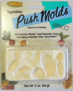 amaco push molds vegetables for friendly plastic and polymer clay, 1997