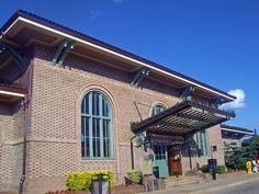 Morristown, NJ, train station front entrance