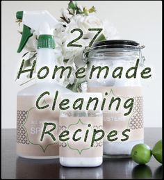 27 homemade cleaners to accomplish any cleaning task you can think of! From homemade fabric conditioner to how to clean with vinegar, wow!