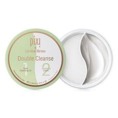 Double Cleanse - Unique 2-in-1 jar  created by Caroline Hirons where one side contains a solid cleansing oil and the other side a luxe cleansing cream for the ultimate PM cleans