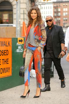 Zendaya providing slayage today! Would have worn some  boots instead for me