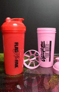 Cute protein shakers! #createyourworth #flagnorfail