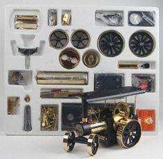Wilesco D416 Traction Steam Engine Black-Brass Kit
