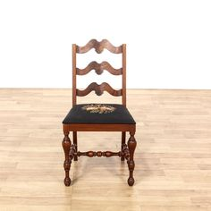 Exceptional Antique Mahogany Floral Needlepoint Accent Chair