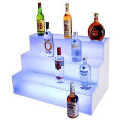 Frost Lit Step Bottle Display