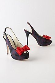 Blackwatch plaid, red bows, & slingbacks. What could be wrong?