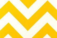 Yellow and white chevron furnishing fabric from LoveFabric.co.nz