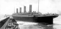 Titanic departing Berth 44 in Southampton, England on April 10th, 1912 at 12 ...