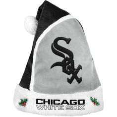 Forever Collectibles MLB 2015 Santa Hat, Chicago White Sox, Black