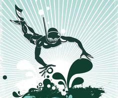 Livingwalls XXL-Tapete Illustration diving (XXL) 036974 top preis