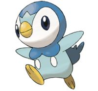 """tofindtheholynail: """" Piplup was one of my very first pokemon so it'll always hold a special place in my heart. Starting from the right, I have bubbles (piplup's signature move), its head, and a wave."""