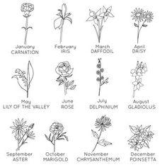 Birth Flower Tattoos, Small Flower Tattoos, Flower Tattoo Designs, Meaningful Flower Tattoos, Simple Flower Tattoo, Small Daisy Tattoo, Simple Poppy Tattoo, Small Hip Tattoos, Flower Outline Tattoo