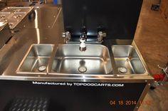 TopDogCarts.com - three sinks on a TD 18 mobile food cart