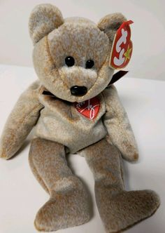 TY Beanie Bear 1999 Signature Heart Embroidered Bear Rare Retired  Collectible  Ty Beanie Bears 5a147b53f22b