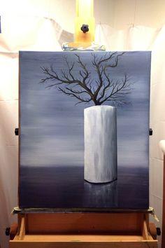 Ein Vasenstillleben - Öl auf Leinwand 50 x 60 von StenorKunst auf DaWanda.com