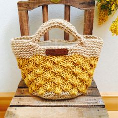 Crochet Tote, Crochet Purses, Crochet Stitches, Knit Crochet, Crochet Patterns, Learn How To Knit, Learn To Crochet, Knitted Bags, Handmade Bags