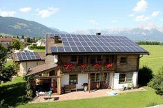 PortenkirchnerMaishofen - Salzburger Photovoltaik Solar Profi in Bruck - Zell am See Pinzgau Solar, Cabin, House Styles, Outdoor Decor, Home Decor, Homemade Home Decor, Cabins, Cottage, Interior Design