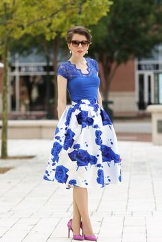 Midi skirts are a great way to add some whimsy into your summer wardrobe - dress them up with pumps or casually with a pair of flats!