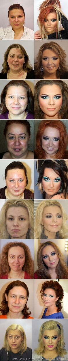 Before and after professional makeup...