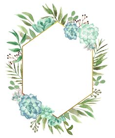 Watercolor Floral Geometric Frame - Buy this stock illustration and explore similar illustrations at Adobe Stock Flower Background Wallpaper, Flower Backgrounds, Paper Background, Watercolor Leaves, Floral Watercolor, Borders And Frames, Floral Border, Flyer, Border Design