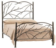 Stone County Ironworks 904-710 Norfork Twin Bed (hand rubbed bronze)