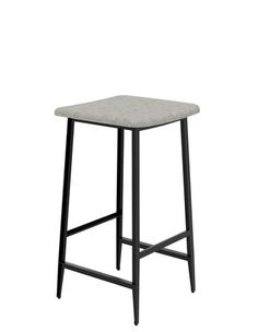 Home Source Luxury Bar Stool Metal Frame Zinc Coated Wooden Seat Mango Kitchen Bistro Chair