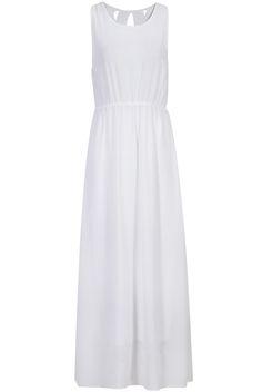robe creux sans manche -blanc  18.75