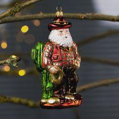 Handmade glass bauble, highly detailed with this wonderful cowboy theme Texas Cowboys, Cowboy Theme, Father Christmas, Christmas Baubles, Detail, Holiday Decor, Glass, Handmade, Papa Noel
