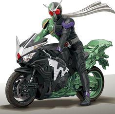 バイクに乗るから仮面ライダー。