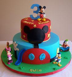 Mickey Mouse Clubhouse Cake | mickey mouse clubhouse cake 10 and 6 cakes inspired by many designs ...