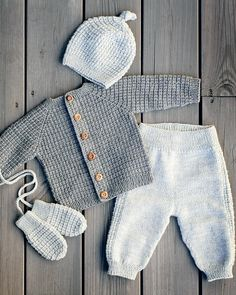 Baby Knitting Patterns, Lace Knitting, Knitting Designs, Baby Patterns, Little Girl Outfits, Baby Boy Outfits, Kids Outfits, Crochet For Boys, Crochet Baby