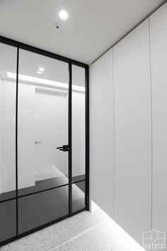 Downlights, Interior Lighting, Door Design, Dressing Room, Home And Living, Oversized Mirror, Entrance, Doors, Interior Design