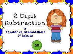 This ppt game reviews subtraction with 2 digit numbers. There are 20 questions with an answer range from 0 to 90.There are some problems that require regrouping. There can be up to 4 teams and includes a type in scoreboard that can be used during slideshow mode .A fun way to review division!