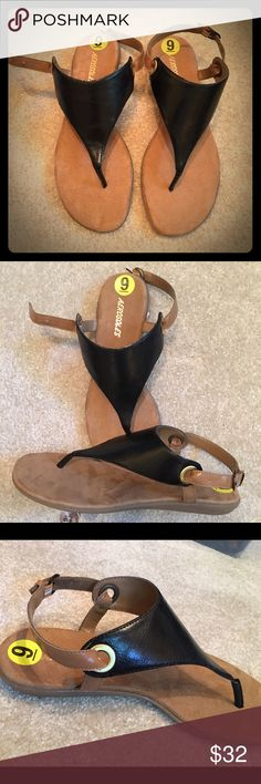 Aerosoles black and camel sandals Aerosoles brand sandals. Never been worn. Black and Tan in color. AEROSOLES Shoes Sandals