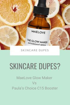 Move over, Paula's Choice C15 Booster. There's a new Skinceuticals CE Ferulic dupe on the block – and it's cheaper than you.It's called MaeLove Glow Maker and it sells out quickly every time a new batch is released. Should you hurry to get yours while you can? #skincaredupes #skincareingredients Paula's Choice, Skincare Dupes, Grape Seed Extract, Glowy Skin, How To Get Rid Of Acne, Prevent Wrinkles, How To Treat Acne, Skin Firming, Acne Prone Skin