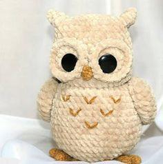 Easter Bunny Crochet Pattern, Owl Crochet Pattern Free, Crochet Dolls Free Patterns, Owl Patterns, Free Crochet, Crochet Faces, Crochet Food, Crochet Animals, Crochet Baby