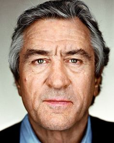 "Robert De Niro. From the series ""Close Up"" © Martin Schoeller"