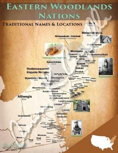 Here you will find the definitive map on the indigenous peoples' nations that lived in the Eastern Woodlands of what is now considered the United States. Indian Tribes, Native American Tribes, Native American History, American Indians, American Art, African Tribes, American Spirit, Native Indian, Woodland Indians