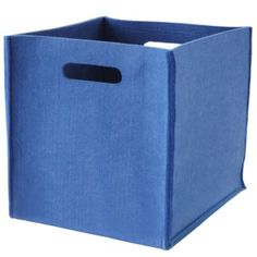 Once More with Felting Cube Bin (Blue)    Crate and Barrel