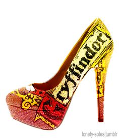 Yup, I would wear high heels just for these fantastic shoes.