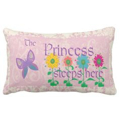 La princesse Sleeps Here Pillow